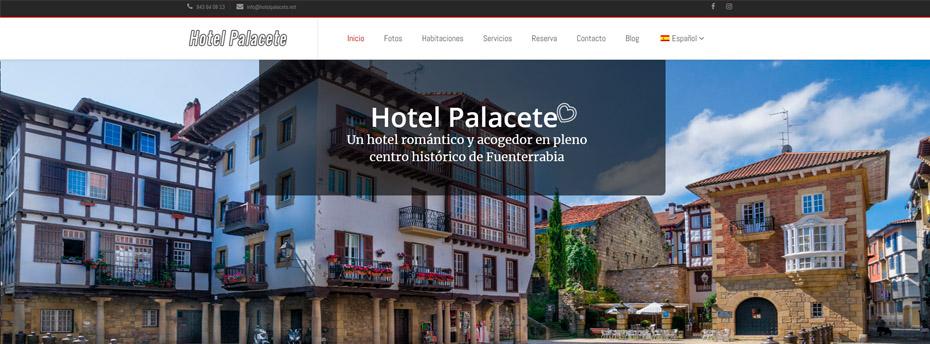 Nueva web de hotel palacete de fuenterrabia