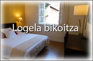 Logela bikoitza palacete hotelan
